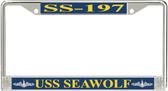 USS Seawolf SS-197 License Plate Frame