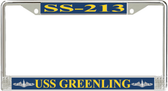 USS Greenling SS-213 License Plate Frame