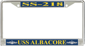 USS Albacore SS-218 License Plate Frame