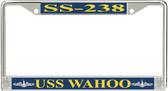 USS Wahoo SS-238 License Plate Frame