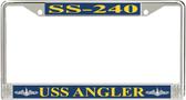 USS Angler SS-240 License Plate Frame