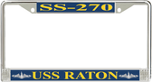 USS Raton SS-270 License Plate Frame