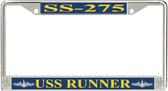 USS Runner SS-275 License Plate Frame