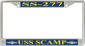 USS Scamp SS-277 License Plate Frame