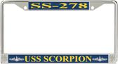 USS Scorpion SS-278 License Plate Frame