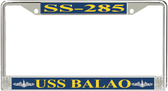USS Balao SS-285 License Plate Frame