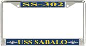 USS Sabalo SS-302 License Plate Frame