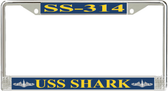 USS Shark SS-314 License Plate Frame