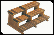 "72"" 3 Tier Cedar Step-PICK UP ONLY"