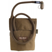 Source Kangaroo 1 Liter Bladder w/ Pouch Coyote Brown Collapsible Canteen 33 oz