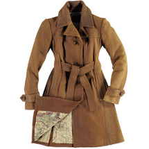 Cockpit USA Amelia Trench Coat Brown Soft Lamb Leather USA Made
