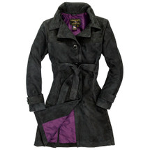 Cockpit USA Women's Amelia Trench Coat in Black USA Made