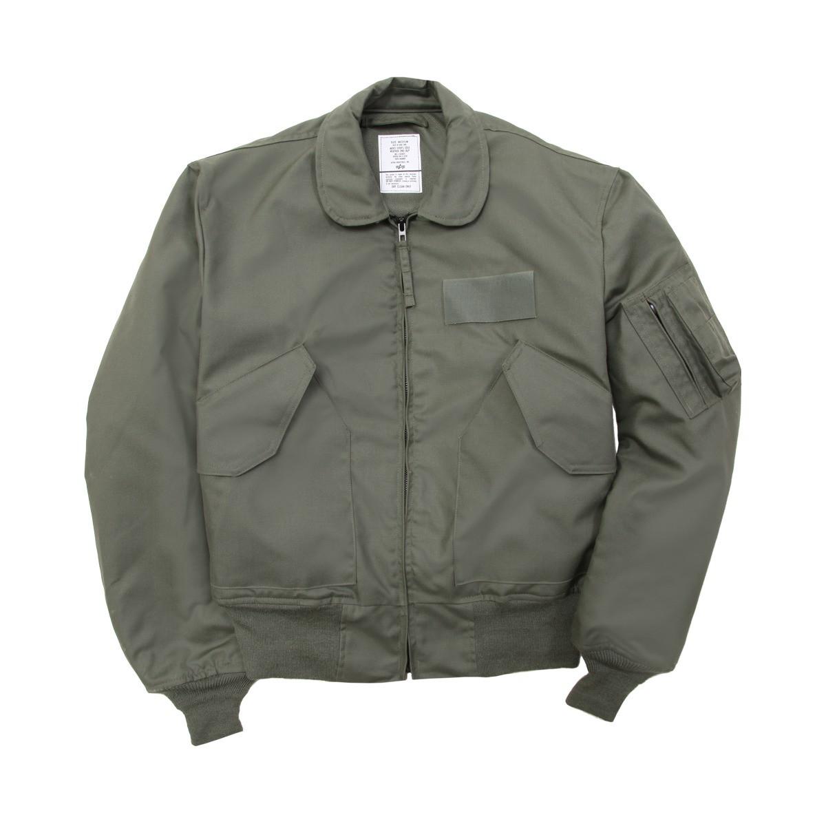 5b3a19b6a Alpha Industries CWU 36/P Nomex Mil Spec Flight Jacket Sage Green USA Made
