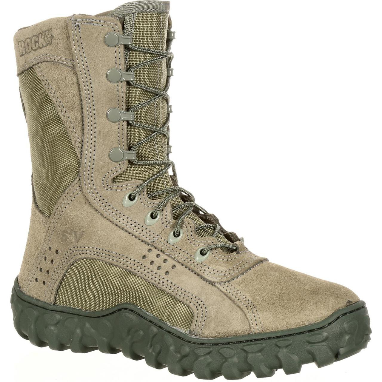 75b18a1fbfb Rocky S2V Tactical Military Boot Sage Green Combat Ready Vented