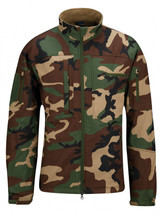 Propper BA Covert Tactical Softshell Jacket Woodland Camo At empire tactical gear