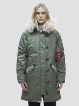 Alpha Industries Women's Elyse Extreme Cold Weather Parka Sage Green