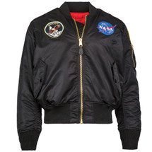 Alpha Industries Apollo Ma-1 Flight Jacket Black