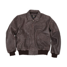 Alpha Industries Leather CWU / 45P Jacket Brown, Black (MLC21012P1)