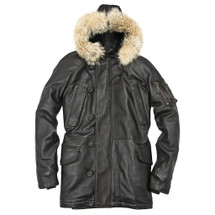 Cockpit USA Antique Lamb N3B Long Parka Brown USA Made Z21U038