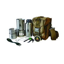 Pathfinder trail pro Stainless Steel cook set With Molle Carrier