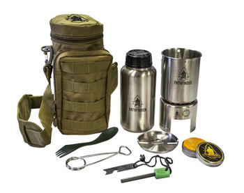 Pathfinder Stainless Steel Bottle Cooking Kit With Molle ...