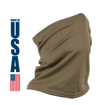 XGO Performance Heavyweight Neck Gaiter Coyote Brown USA Made