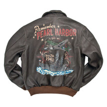 "Cockpit USA ""Remember Pearl Harbor"" A-2 Flight Jacket USA Made"