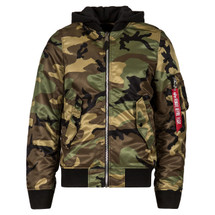 Alpha Industries L-2B Natus Hooded Flight Jacket Woodland Camouflage