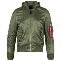 Alpha Industries L-2B Natus Hooded Flight Jacket Sage