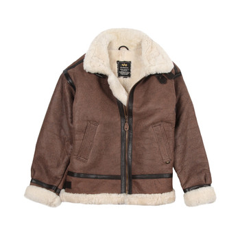 Alpha Industries B-3 Sherpa Sheepskin Bomber Jacket Brown