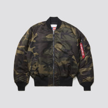 Alpha Industries MA-1 blood chit Jacket Woodland Camo
