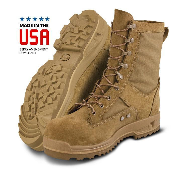 c87cd2cd8f3 Altama US Air Force Hot Weather Safety Toe Boots Coyote Brown USA Made