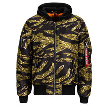 Alpha Industries MA-1 Natus With Zip Off Hood Tiger Strip Camouflage