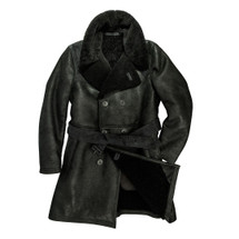 Cockpit USA Men's The Highview Shearling Trench Black USA Made