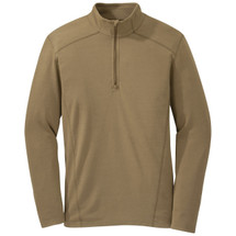 Outdoor Research Foundation Long Sleeve 1/4 Zip Top Coyote Brown