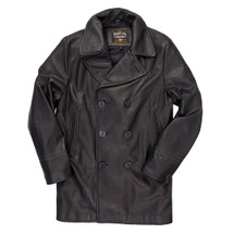 Cockpit USA Leather Pea Coat Brown or Black USA Made