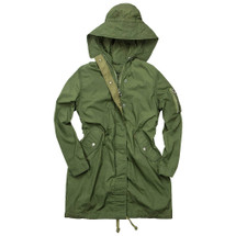 Cockpit USA Women's WAVES Fishtail Anorak Olive USA Made