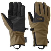 Outdoor Research Men's Stormtracker Gloves Coyote Brown Black