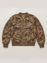 Alpha Industries L-2B Blood Chit Battle Washed Flight Jacket Frog Skin Camo