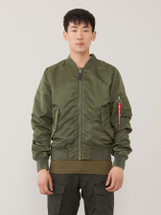 Alpha Industries L-2B Blood Chit Battle Washed Flight Jacket Sage Green