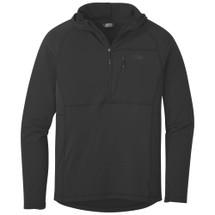 OR Men's Vigor Half Zip Hoody Grid Fleece Black