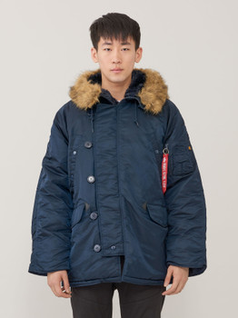 Alpha Industries N-3B Parka Long Extreme Cold Weather Replica Blue