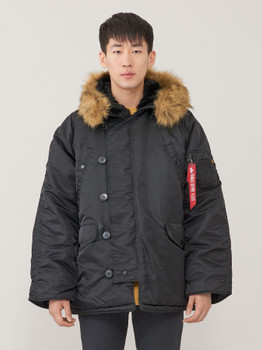 Alpha Industries N-3B Parka Long Extreme Cold Weather Black