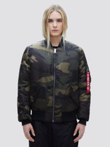 Alpha Industries Women's MA-1 Flight Jacket Dark Woodland Camo