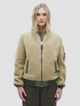 Alpha Industries Women's L-2B Sherpa Flight Jacket Cream