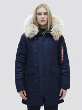 Alpha Industries Women's N-3B Parka Extreme Cold Weather Replica Blue