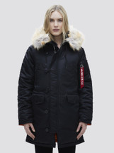 Alpha Industries Women's N-3B Parka Extreme Cold Weather Black
