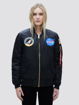 Alpha Industries Women's MA-1 NASA Flight Jacket Black