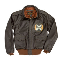 Cockpit USA Aces & Eights Flight Jacket Brown USA Made