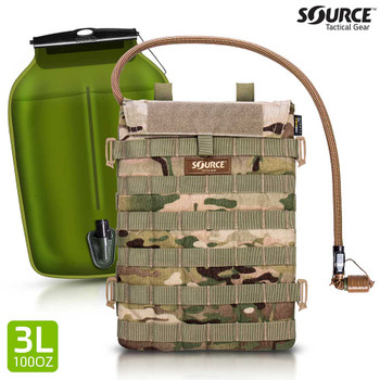 Source Hydration Razor 3 Liter, 100 oz Low Profile Hydration carrier Multicam